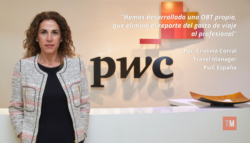 Cristina Corral, Travel Manager de PWC España