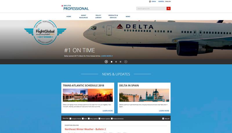 Se lanza la web Delta Professional para España