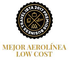 Vueling gana el Premio Mejor a la mejor Low cost - Premios Business Travel IBTA 2017