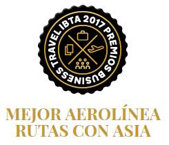 Emirate primer premio a la Mejor Aerolínea ruta con Asia - Premios Business Travel IBTA 2017