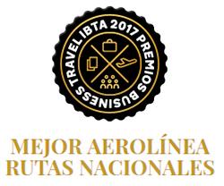 Air Europa premio segunda mejor aerolínea para rutas nacionales - premios business travel ibta 2017