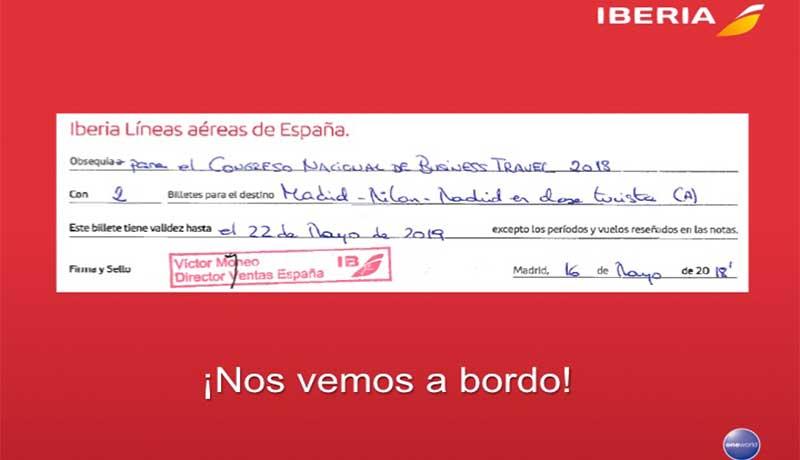 Iberia premia a los visitantes de Expo Turismo de Negocios 2