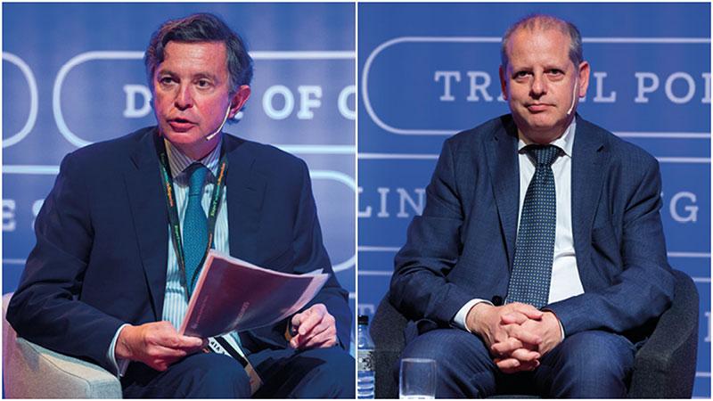 Luis Dupuy, director general de American Express GBT España con José Luis Sebastián, Jefe de Compras Global de CODERE.