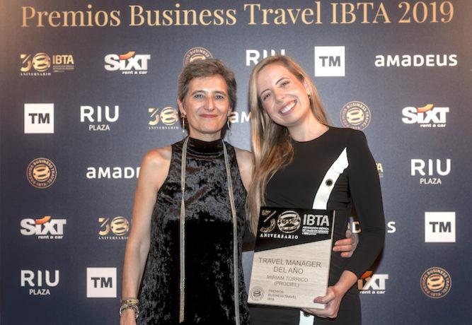 """Miriam Torrico recibe el «Travel Manager del año 2019» en la categoría """"1 a 10MM € en budget anual""""."""